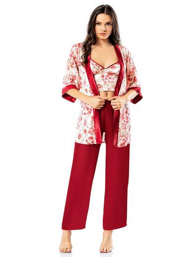 Loriva Pijama Takım Bordo